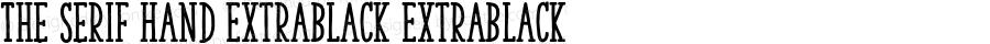 The Serif Hand ExtraBlack ExtraBlack 2.000;com.myfonts.la-goupil.the-serif-hand.extrablack.wfkit2.468C