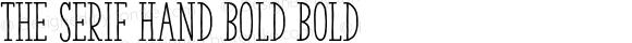 The Serif Hand Bold Bold 2.000;com.myfonts.la-goupil.the-serif-hand.bold.wfkit2.468A