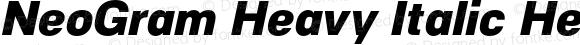 NeoGram Heavy Italic Heavy Italic