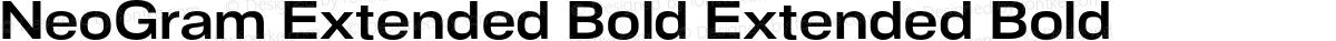 NeoGram Extended Bold Extended Bold