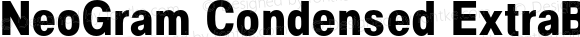NeoGram Condensed ExtraBold Condensed ExtraBold