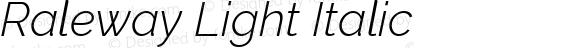 Raleway Light Italic