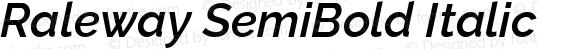 Raleway SemiBold Italic