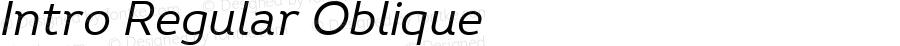 Intro Regular Oblique