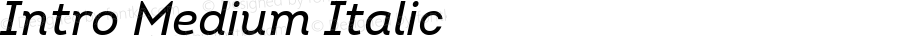 Intro Medium Italic