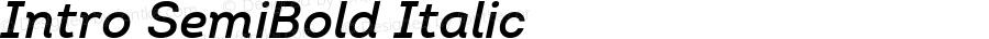 Intro SemiBold Italic