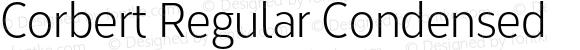 Corbert Regular Condensed