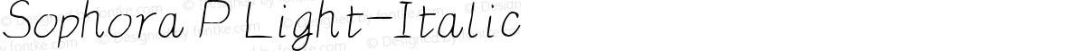 Sophora P Light-Italic