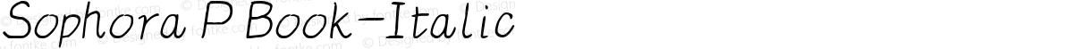 Sophora P Book-Italic
