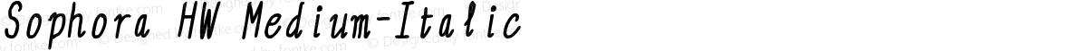Sophora HW Medium-Italic