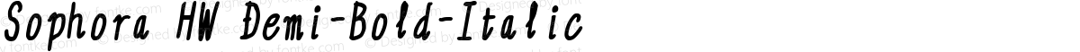 Sophora HW Demi-Bold-Italic