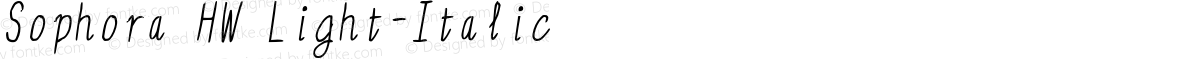 Sophora HW Light-Italic