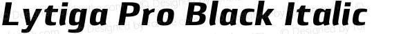 Lytiga Pro Black Italic Version 1.000; Fonts for Free; vk.com/fontsforfree