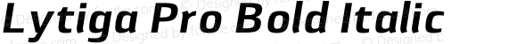 Lytiga Pro Bold Italic Version 1.000; Fonts for Free; vk.com/fontsforfree