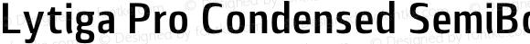 Lytiga Pro Condensed SemiBold