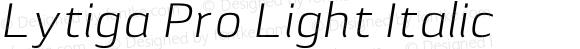 Lytiga Pro Light Italic Version 1.000; Fonts for Free; vk.com/fontsforfree