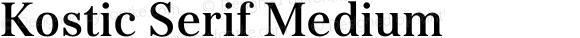 Kostic Serif Medium