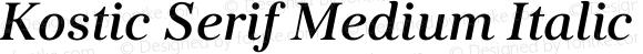Kostic Serif Medium Italic