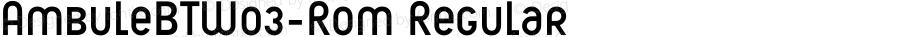 AmbuleBTW03-Rom Regular Version 1.00