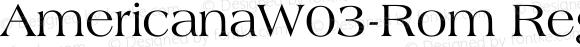 AmericanaW03-Rom Regular Version 1.00