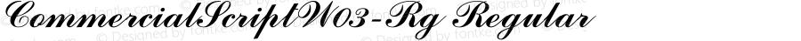 CommercialScriptW03-Rg Regular Version 1.00