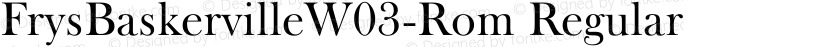 FrysBaskervilleW03-Rom Regular Preview Image