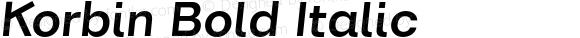 Korbin Bold Italic