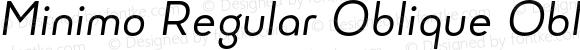 Minimo Regular Oblique Oblique
