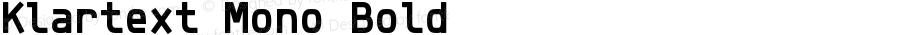 Klartext Mono Bold Version 1.002; Fonts for Free; vk.com/fontsforfree