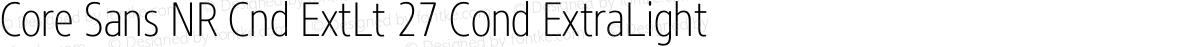 Core Sans NR Cnd ExtLt 27 Cond ExtraLight