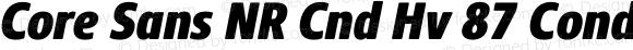 Core Sans NR Cnd Hv 87 Cond Heavy Italic