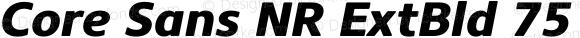 Core Sans NR ExtBld 75 ExtraBold Italic