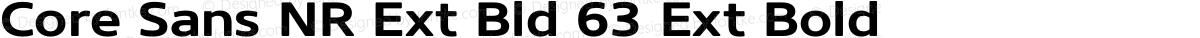 Core Sans NR Ext Bld 63 Ext Bold