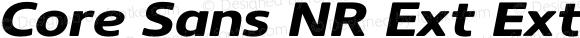 Core Sans NR Ext ExtBld 73 Ext ExtraBold Italic