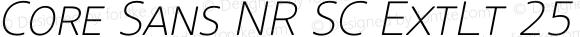 Core Sans NR SC ExtLt 25 ExtraLight Italic