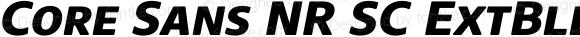 Core Sans NR SC ExtBld 75 ExtraBold Italic
