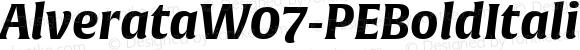 AlverataW07-PEBoldItalic Regular Version 1.100