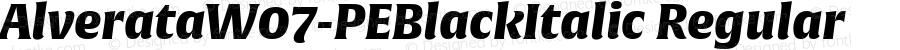 AlverataW07-PEBlackItalic Regular Version 1.100