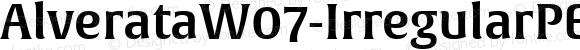 AlverataW07-IrregularPESmbold Regular Version 1.000