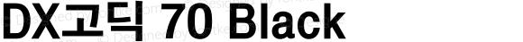 DX고딕 70 Black