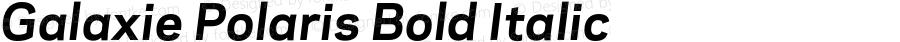 Galaxie Polaris Bold Italic Version 3.011 _ September 2008
