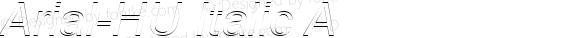 Arial HU Italic A