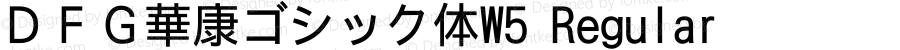 DFG華康ゴシック体W5 Regular Version 2.500