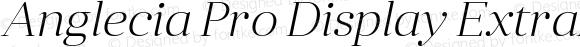 Anglecia Pro Display ExtraLight Italic
