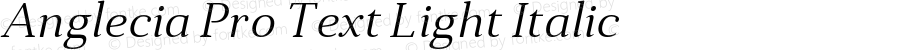 Anglecia Pro Text Light Italic Version 001.000;com.myfonts.konstantynov.anglecia-pro.text-light-italic.wfkit2.47MK