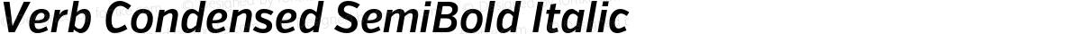 Verb Condensed SemiBold Italic