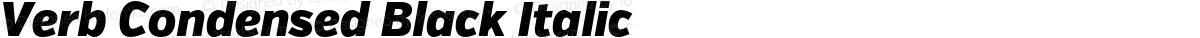 Verb Condensed Black Italic