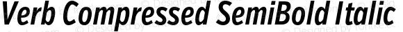 Verb Compressed SemiBold Italic