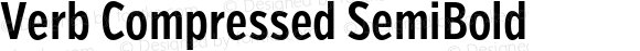 Verb Compressed SemiBold