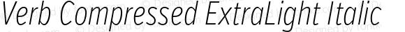 Verb Compressed ExtraLight Italic